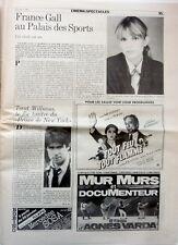 LE MATIN de Paris 1982: FRANCE GALL_FRANCOIS BESSE (MESRINE) / Journal TRES RARE