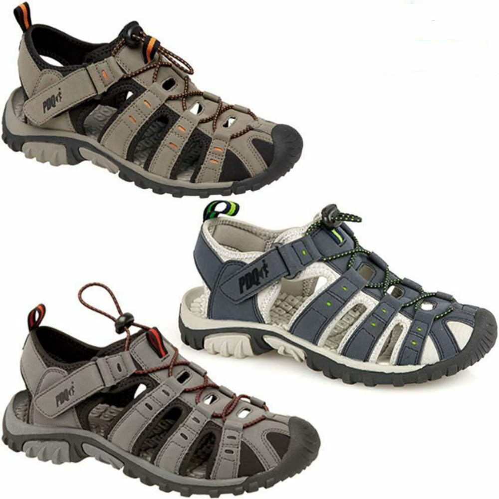 Mens PDQ Toggle & Touch Fastening Sports Trail Walking Sandals