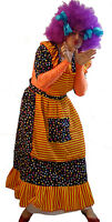 Pantomime Dame /ugly Sister Fancy Dress Costume Liquorice Allsorts & Wig