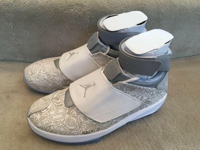 more photos 28f3a b06e8 AIR JORDAN XX RETRO LASER 743991 100 WHITE METALLIC SILVER NEW IN BOX SIZE  12