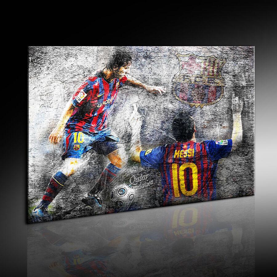 Lionel Messi Jugador Del Balompié Fotoleinwand24 Impresión De Arte Mural