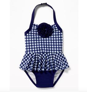 GAP OLD NAVY Rosette Peplum Halter Swimsuit for Toddler Girls NWT 2T 3T N12