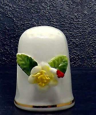 October Porcelain China Thimble Flower on the Month