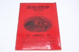 Vintage-1950s-Menu-BLUE-BELL-COFFEE-SHOP-Placerville-California