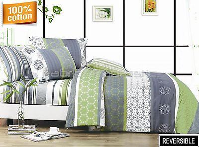 DEXTER Double/Queen/King Size Bed Quilt/Doona/Duvet Cover/Sheet Set Eurocase New