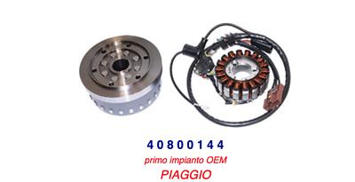 40800144 Statore + Volano Piaggio Mp3 125 Ibrido 09-10 / Mp3 125 Ie 08-09 Giada Bianca
