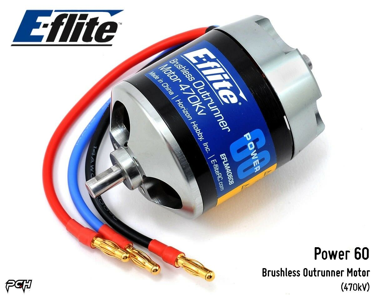 E-FLITE Power 60 Brushless Outrunner Airplane Motor  470kV  EFLM4060B