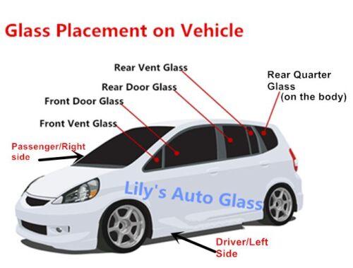 Fit 2010-2015 Ford Taurus Sedan Passenger Side Right Rear Door Window Glass