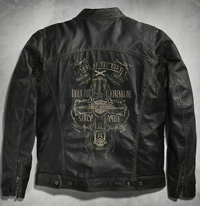 Harley Davidson RALLY RIDER Vintage Leather Jacket L 2XL 3XL ...