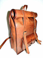 Leather Roll Top Backpack Rucksack College Bag Unisex Most Durable