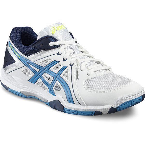 Asics Herren Herren Herren Volleyball Schuhe Gel Task   Weiß Blau 4e2d3b