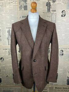 Vintage Austin Reed 1970 S Brown Tweed Jacket Size 40 Ebay