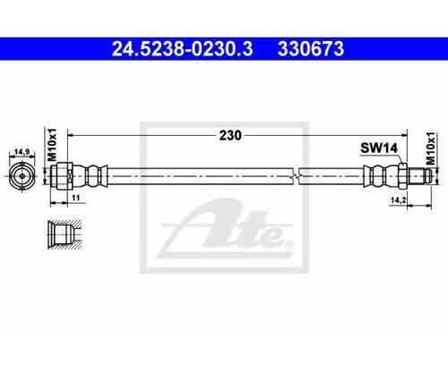 ATE Freni Asse Posteriore Mercedes Benz 24.5238-0230 ATE 24.5238-0230.3