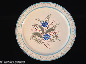 Stangl-Pottery-Hand-Painted-BLUE-DAISY-12-034-CHOP-PLATE-ROUND-SERVING-PLATTER