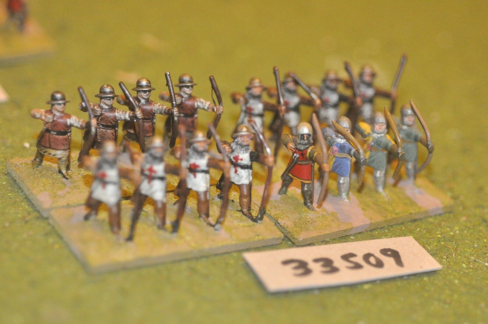 25mm medieval   english - archers 16 figures - inf (33509)