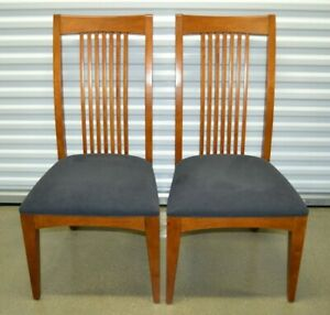 2 Ethan Allen American Impressions Parson Dining Room Side End Chairs