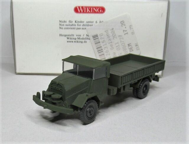 Wiking 1:87 MAN 630 L2A Gelände Lkw OVP 696 07 Bundeswehr Militär