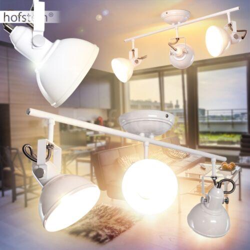 Wohn Schlaf Zimmer Beleuchtung Retro Decken Leuchten verstellbar Flur Lampe weiß