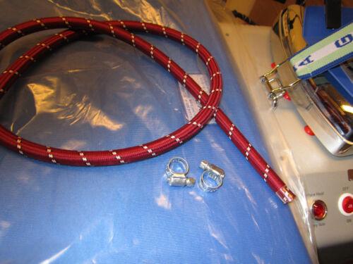(4,00 €/Meter)     2,5 m Silikonschlauch Dampf Bügeleisen mit 2 Schlauchschellen