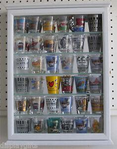 La Foto Se Está Cargando Shot Gl Display Case Wall Cabinet Shadow Box