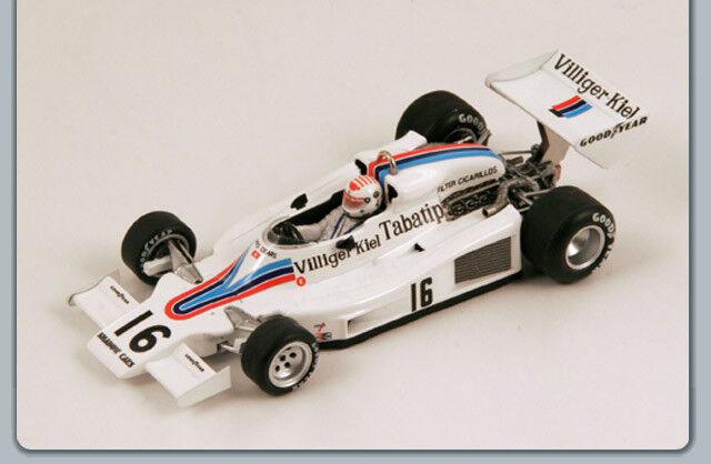 Shadow F1 Dn8  16 Gp Austrian 1977 Arturo Merziario bianca Spark 1 43 S3830