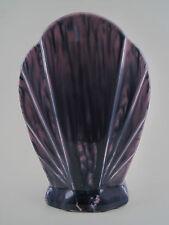 Vase Céramique Faïence Géométrique Eventail ART DECO FRANCE émail Violet & Rose