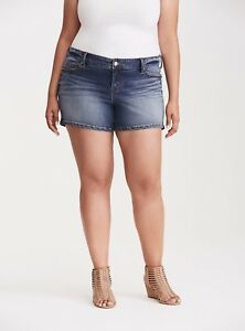 0aed0f6782a Image is loading Torrid-Skinny-Shorts-Light-Wash-With-Striped-Scarf-