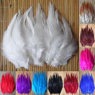 50-200pcs! Beautiful Pheasant Neck Feathers 10-15cm/4-6 10Color Choose