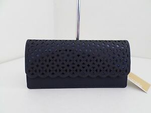9cd30b7f0b49 NWT AUTH MICHAEL KORS DESI FLAT FLORA PERFORATED LEATHER WALLET-$138 ...