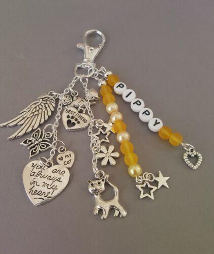 key//bag encanto personalizado Libre Pet loss//in Memoria Memorial pérdida de gato
