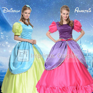Adult Cinderella Step Sisters Anastasia Drizella Dress Cosplay