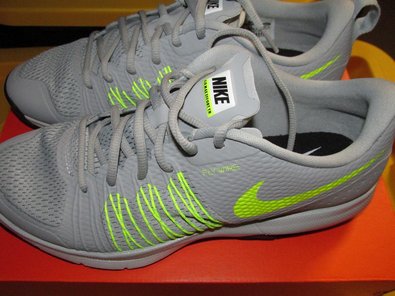 Nike Air Max Effort TR Training Shoes  705353 071 Mens Sizes9.5  Shoes Gray/Volt NIB a5913f