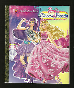 Little-Golden-Book-Barbie-The-Princess-and-the-Popstar-2012-VG