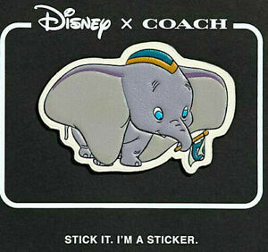 DISNEY-x-COACH-Dumbo-The-Elephant-Movie-LEATHER-STICKER-Patch-LIMITED-EDITION