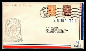 GP GOLDPATH: CANADA COVER 1942 FIRST FLIGHT COVER _CV699_P26