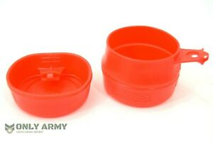Swedish-Army-Folding-Cup-250ml-FOLDACUP-in-Red-Genuine-Sweden-Military-Mug-Wildo