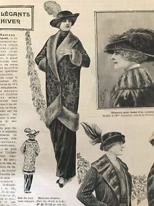 MODE-ILLUSTREE-October-12-1913-sewing-pattern-Elegant-coat-Mourning-dress