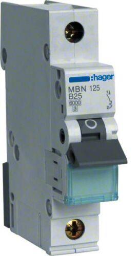 Hager Sicherungsautomat MBN125 B25A 1polig