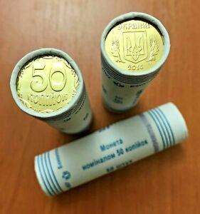 50 coins 2015 KM # New Bank ROLL UNC kopecks UKRAINE x 25 KOPIYOK BU