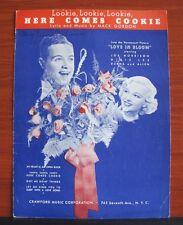 (Lookie Lookie Lookie) Here Comes Cookie - 1935 sheet music- Piano Guitar Vocal