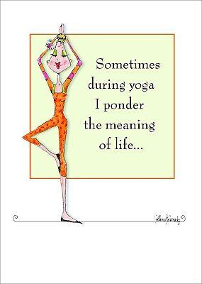 Yoga Pose Vanity Funny Women Birthday Card Vanity Cases by Collene Kennedy