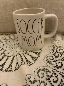 NEW-Rae-Dunn-by-Magenta-Coffee-Mug-in-L-L-034-SOCCER-MOM-034-Newly-Released-Rare-HTF