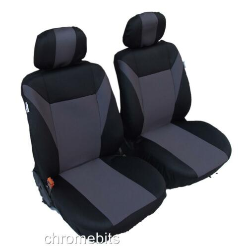 FRONT GREY BLACK FABRIC SEAT COVERS 1+1 FOR MAZDA 2 3 5 6 323 626 MPV