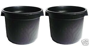 BUCKET-BLACK-PLASTIC-NO-HOLE-500MM-52L-WITH-HANDLES-2-PACK