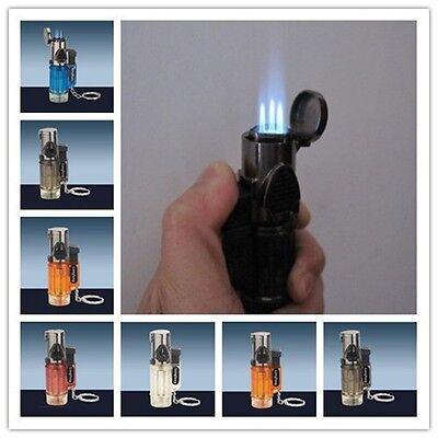 10pcs Triple Jet Windproof Torch Lighter Flame Butane For Cigar Cigarette Lock