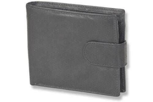 Rinaldo ® Portafoglio in pelle nel formato orizzontale in Nero-Pelle suolo nel duro scomparto soldi