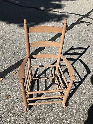 Miraculous Shaker Childs Rocking Chair Rocker With Webbing Ebay Inzonedesignstudio Interior Chair Design Inzonedesignstudiocom