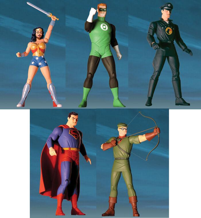 DC DIRECT_The New Frontier Series1_LANTERN_schwarzHAWK_WONDER WOMAN_SUPERMAN_ARROW