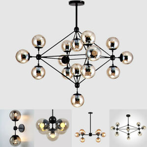 Gold/black Magic Bean Led Pendant Lights For Dinning Vintage Loft Industrial Glass Ball Hanging Light Retro Glass Pendant Lamp Chandeliers