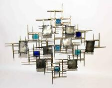 MODERN HANGING WALL SCULPTURE - METAL AND GLASS. Condition: Age appro... Lot 535